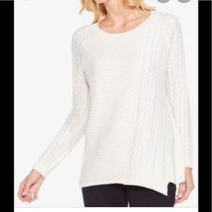 Vince Camuto Two, cable knit asymmetrical sweater